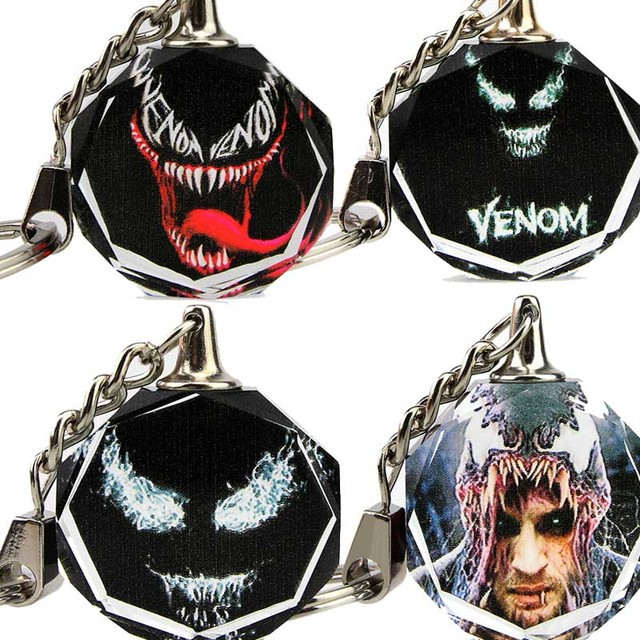 a992cf6d0f8 K9 Crystal Marvel Venom Keychain Ring toys for Adults 2018 New Cool Black  Venom Action Figures
