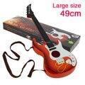 Simulação brinquedos quatro cordas de guitarra baixo instrumento musical pode jogar Mini Guitar desenvolvimento educacional brinquedos para as crianças