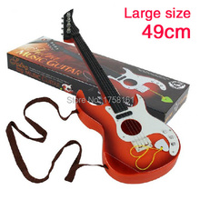 Simulation guitar bass toys four stringed musical instrument can play Mini Guitar educational development toys for children