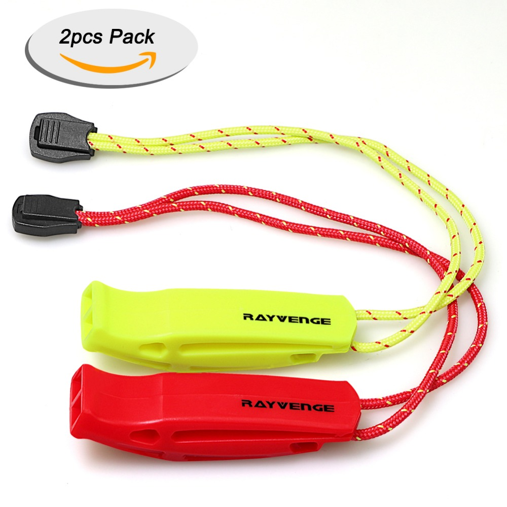 2 PCS Survival Safety Whistle Emergency Scuba Diving Water Sports Trekking with Wrist Strap for Kayaking Outdoor Camping Hiking