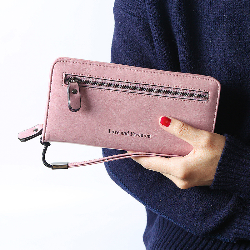 FAVOCENT Wallet Women Scrub Leather Lady Purses High Quality Ladies Clutch Long Female Wallets Carteira Feminina