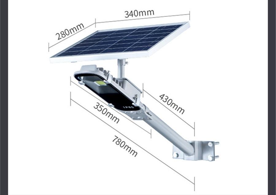 8W Luz Solar Lamp Outdoor Led Light 12W Solar Panel Waterproof LED Street Lights Road Lamp Security Lightting For Garden Wall - 4