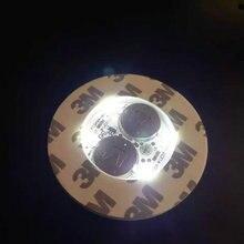 30 pz/lotto Super luminoso 3 millimetri 6 Led Flash di Luce Della Lampadina Bottiglia Tazza Zerbino Sottobicchiere LED glorificatore mini bastone di incandescenza f/Club Bar Party Bianco