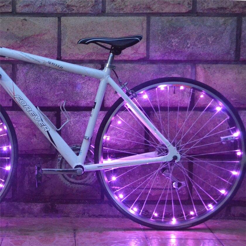 High Quality 20 LED Bike Bicycle Cycling Rim Lights LED Wheel Spoke Light String Strip Lamp