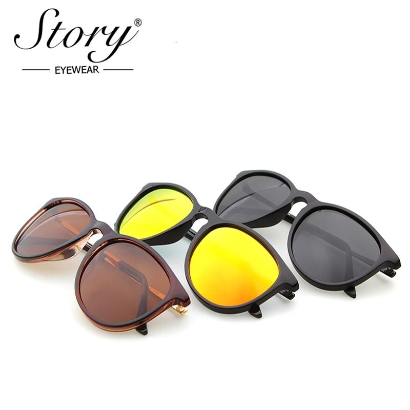 20872a70c5ad2 STORY Men Polarized Sunglasses Classic Women Retro brand designer Alloy Sun  glasses for men cat eye glasses Erika Anti UV400-in Sunglasses from Apparel  ...