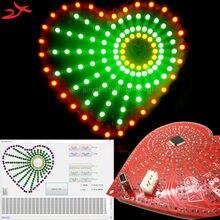 С программным обеспечением многоцветный форме сердца огни cubeed, светодиодные электронные diy kit