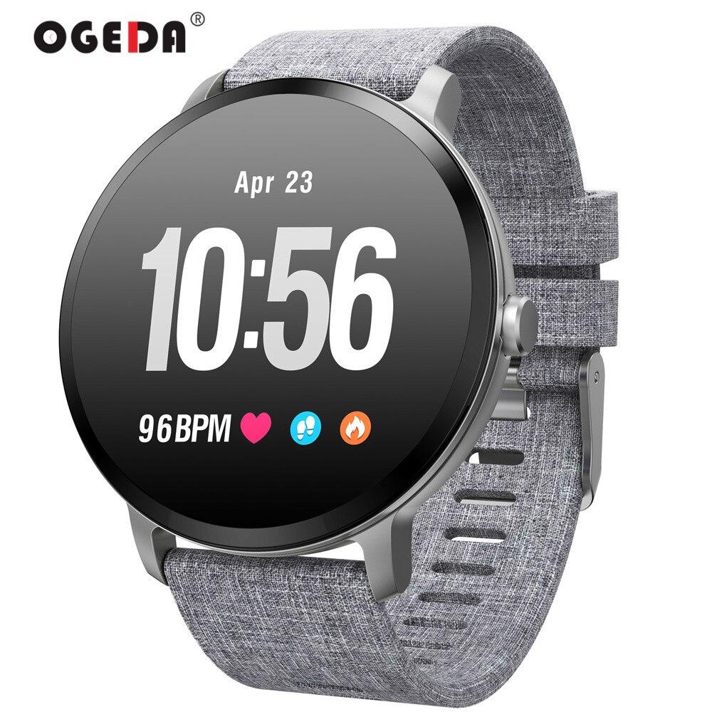 OGEDA V11 montre intelligente IP67 étanche verre trempé activité Fitness tracker moniteur de fréquence cardiaque bord hommes femmes smartwatch nouveau