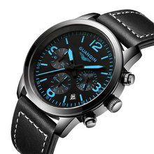 Relojes de Los Hombres 2016 Nueva GUANQIN Relojes de Cuarzo Deporte Militar Hombres Reloj Inoxidable Tres Diales Luces Marca de Lujo Reloj Hombre