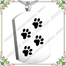 CMJ8445 Dog paw Keepsake Memorial Cremation Pendant Necklace Stainless Steel Ashes Urn Necklace Pendant Jewelry for Pet