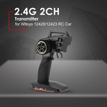 цена на 2.4G 2CH Transmitter Remote Control Radio Spare Parts for RC Car 1/12 Wltoys 12428/12423 4WD Crawler Right Hand Mode