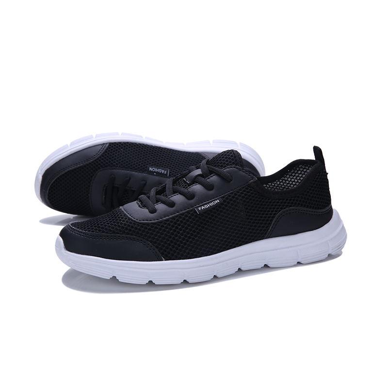 Femmes Miubu Lumière Léger Confort Casual Amants Air Lace Noir Respirant Up gris 35 48 Grande Mode Mesh D'été bleu Chaussures Taille Appartements qqr5FS