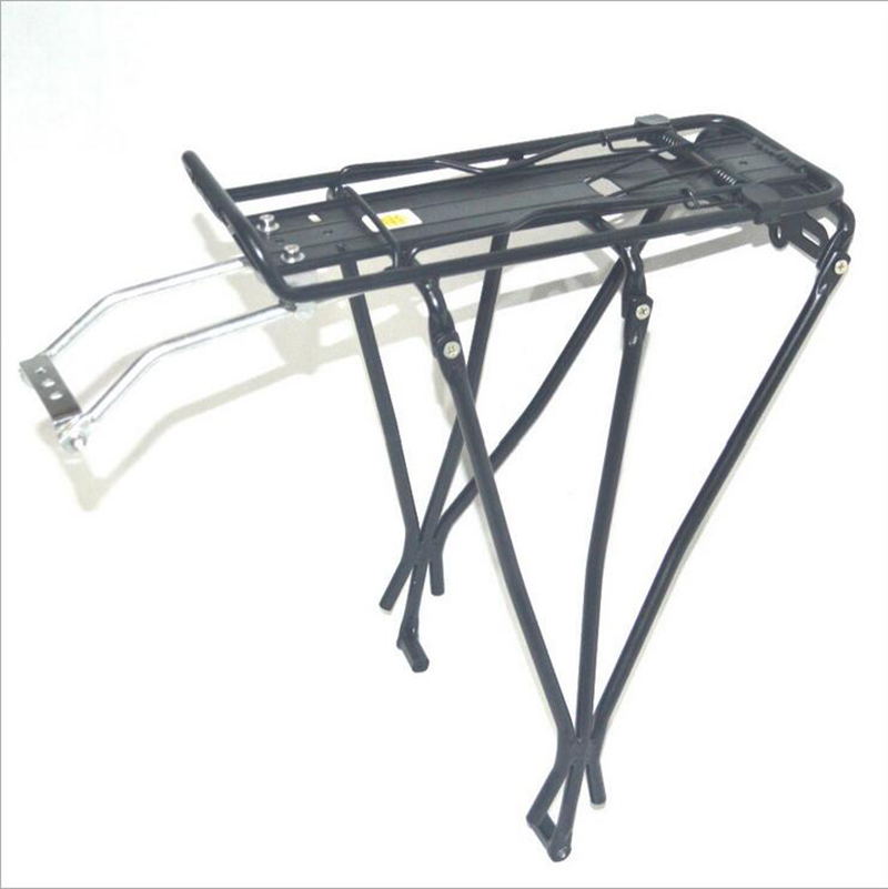 ФОТО Bicycle Rear Shelves Mountain Bike Rear Axle / Aluminum Alloy 50kg Load Can Be Manned Tailstock Bicycle Accessories
