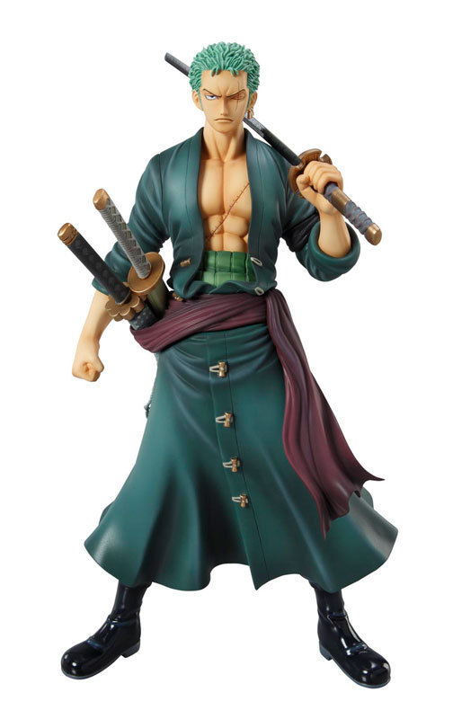 Huong Anime Figure 23CM One Piece POP Roronoa Zoro PVC Action Figure Toy Collectible Model Gift Doll huong game figure 35cm hanzo pvc action figure collectible model toys doll gift