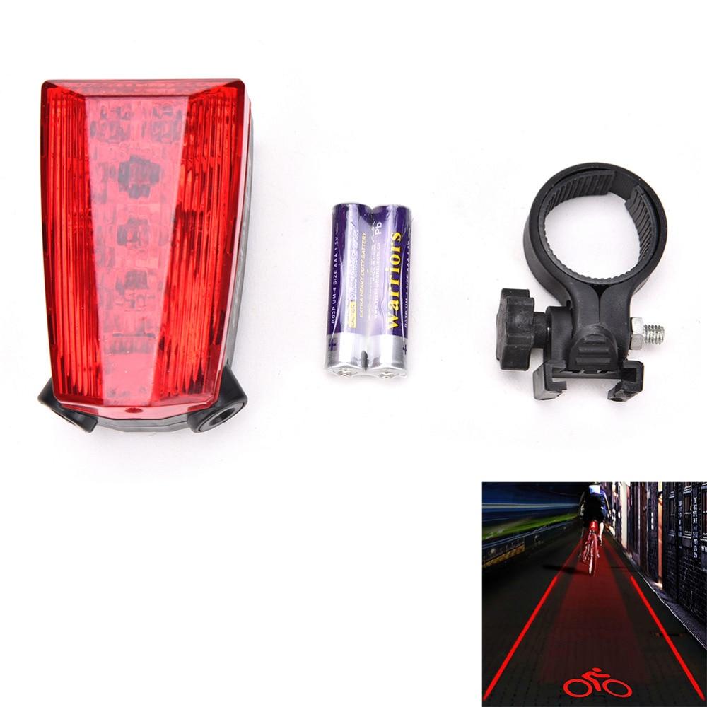 1 Stück 5 Led 2 Laser Radfahren Fahrrad-licht-warn Fahrrad Rücklicht Lampe Logo Projektion Version Fahrrad Hinten Schwanz Lampe