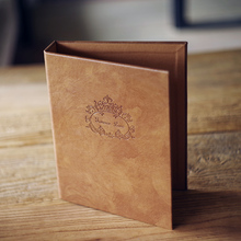 Love Never Fails High-Grade Leather Loose-Leaf Album Of The Couple Retro DIY Manual Paste-Type Wedding Photo Album 7 Inch