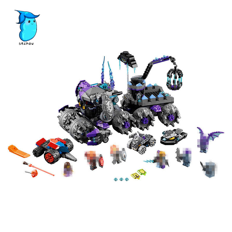 StZhou Lepin 886pcs Nexus Knights Building Blocks Set Jestro\'s Monstrous Monster Vehicle Kids Bricks rus Toys Compatible gift 2017 lepin 14026 nexus knights building blocks set lance vs lightening minifigures kids gift bricks toys compatible with 70359