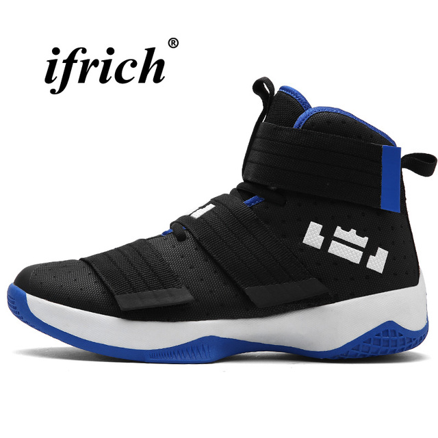 Basketball Shoes High Top Athletic Sneakers Male Anti-slip Shoes Gym Women Damping Comfortable Basketball Training Shoes Unisex