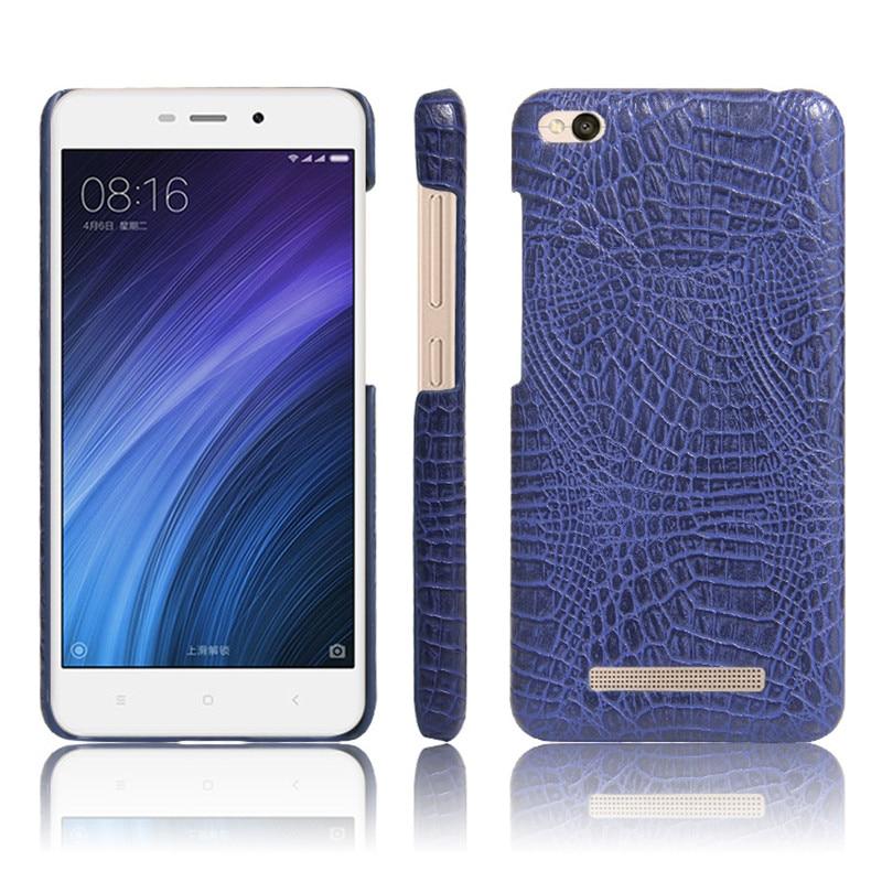Funda para teléfono Xiaomi Redmi 4A Funda de piel de cocodrilo de - Accesorios y repuestos para celulares