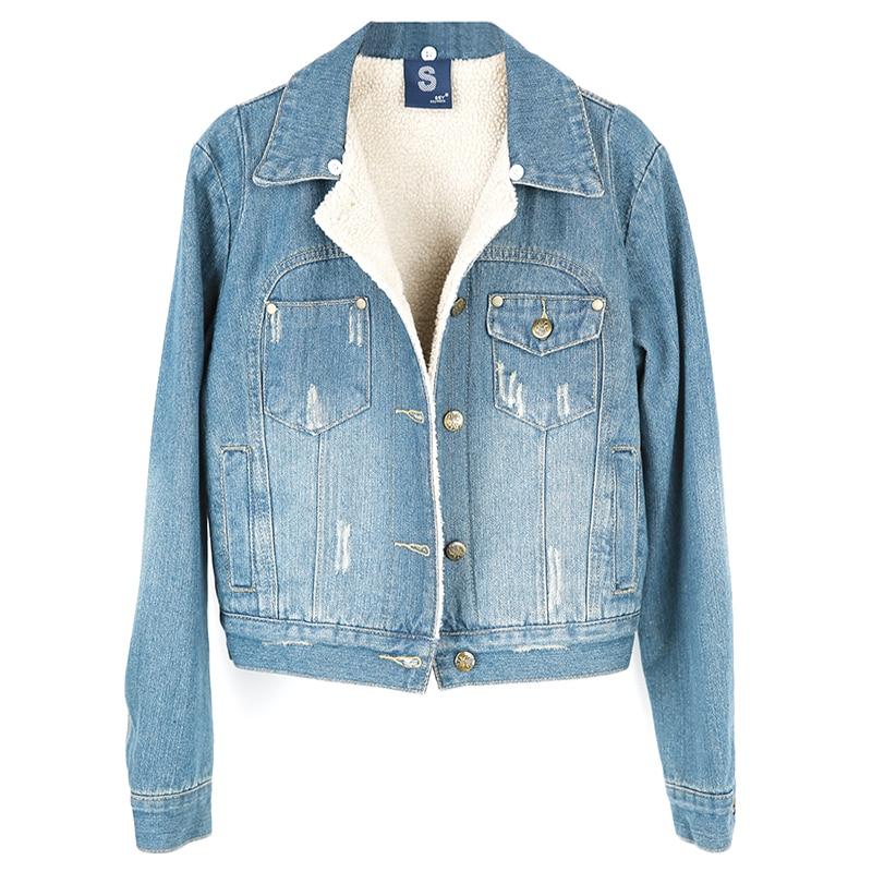 D'agneau Withreal Col De Vestes Doublure Amovible Jacket Manteau Hiver Warm Chaud Denim Coton Cachemire Fourrure Vêtements blue Raccoonfur Réel Féminins Jeans w4zaW8qX