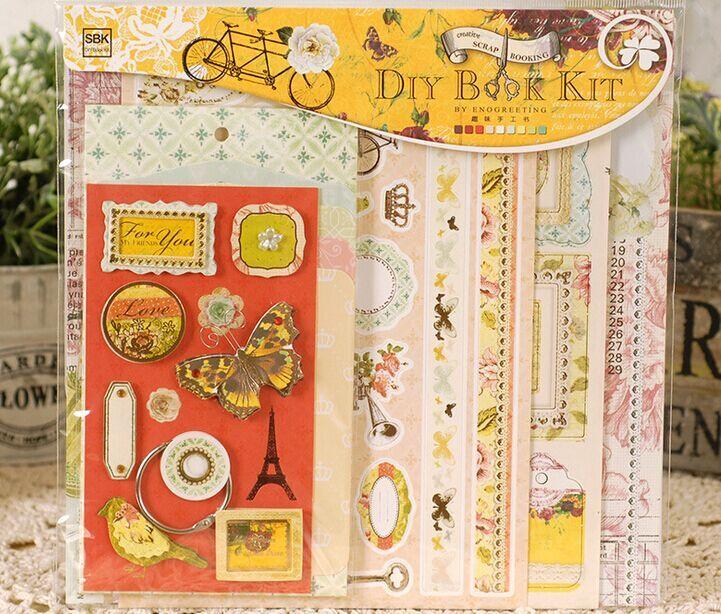 How To Make A Book Kit : Diy book kit mini photo album making for kids