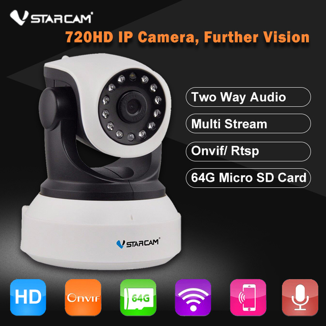 VStarcam C7824WIP HD 720P Wireless Security IP Camera WiFi Onvif Night Vision Audio Recording Surveillance CCTV Network Camera
