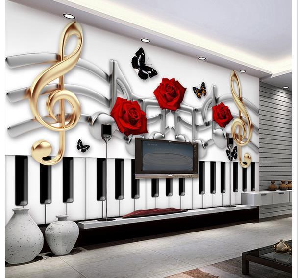 Menyesuaikan Non Woven Wallpaper, Busana Tema Musik Toko