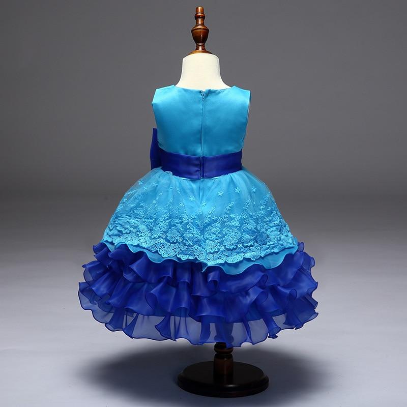 piękna wieczorowa sukienka dla dzieci Kids girl flower dress puff - Ubrania dziecięce - Zdjęcie 4