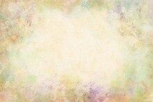 Fondo de vinilo amarillo claro con ilustración de flores para niños, fotografía para estudio fotográfico, G 177