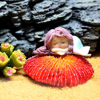 10pcs/lot Resin Sleeping Beauty Mermaid Wedding Birthday Cake Decoration Sea Mermaid Aquarium Decoration Wedding Cake Topper