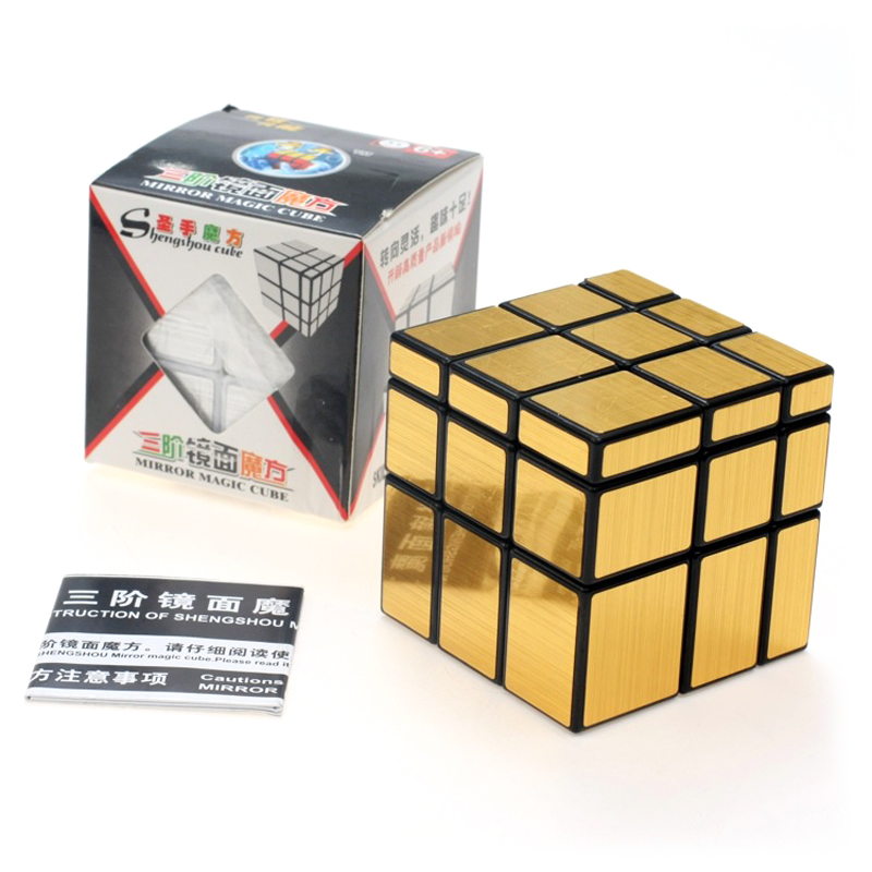ShengShou Mirror Magic Cube professional 3x3x3 Gold&Silver cubo magico Puzzle Speed classic toys