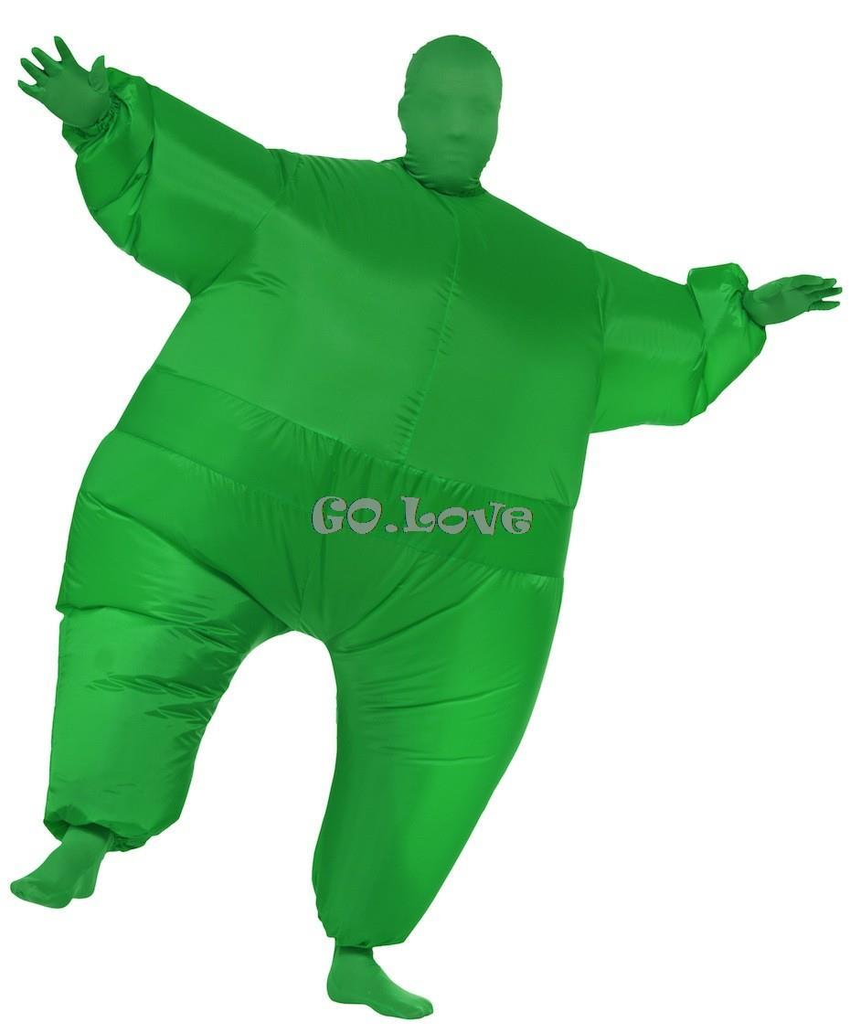 halloween costumes for adult chub pure color sumo suit inflatable blow up full body costume 6 colors with inflatable pump in mens costumes from novelty