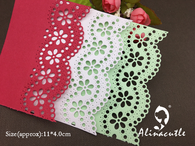 Us 2 58 Alinacraft Metal Cutting Dies Lace Flower Border Edge Scrapbooking Paper Craft Card Album Punch Stencil Art Cutter In Cutting Dies From Home
