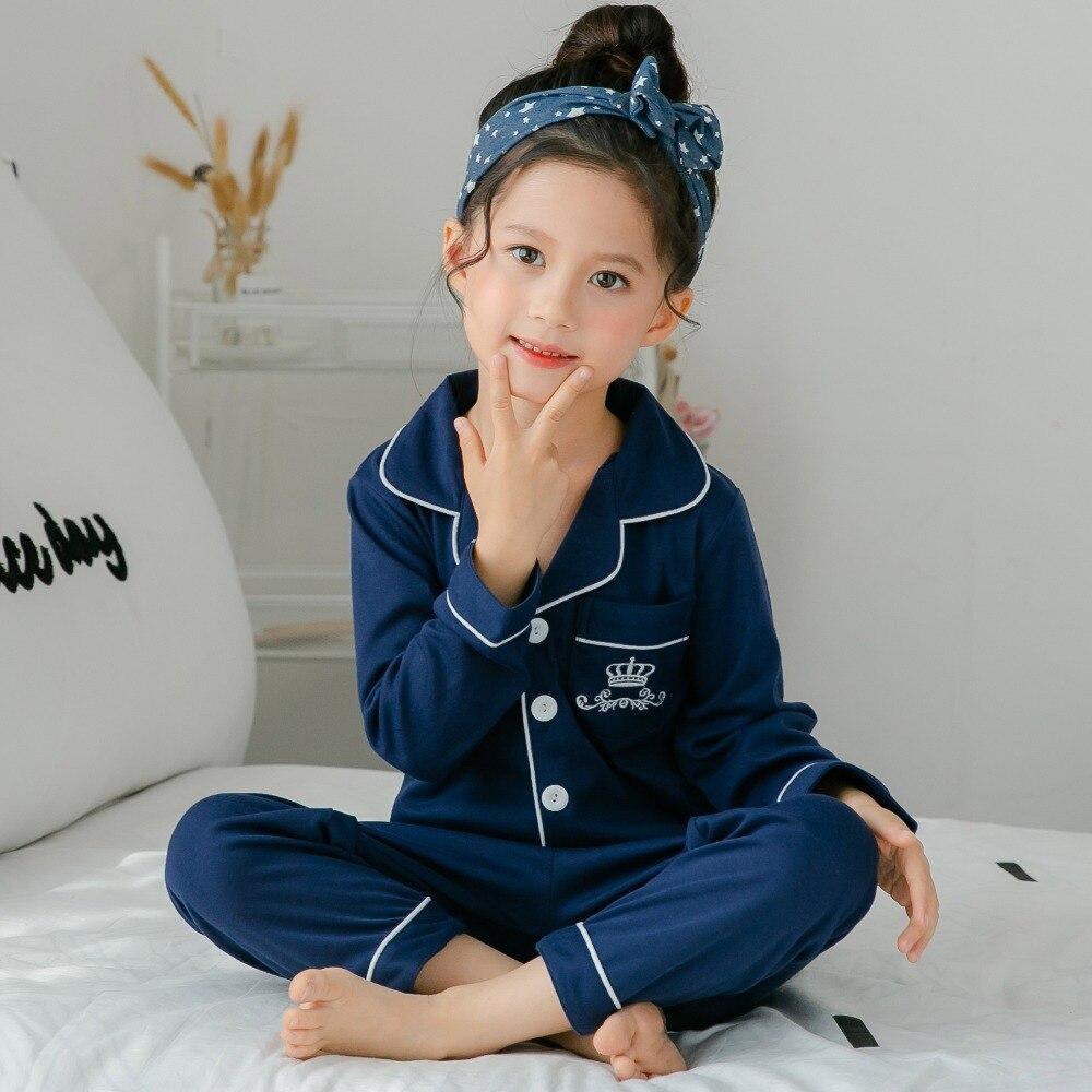 036ae5372 Meninas Pijama terno 2019 Nova primavera bebê Sleepwear Crianças Pijamas de  algodão Set Crianças Bonito Presente Cheio Pijamas crianças pijamas