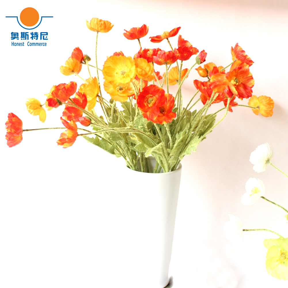 5pcs Artificial Flower Bouquets Orange Red Color Artificial Corn