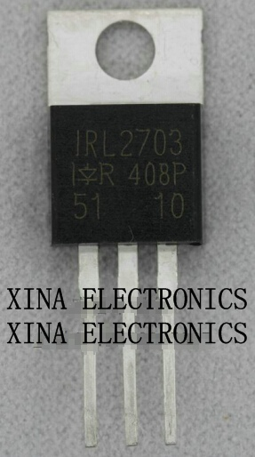 IRL2703PBF IRL2703 L2703 30V 24A TO-220 ROHS ORIGINAL 10PCS/lot Free Shipping Electronics composition kit image