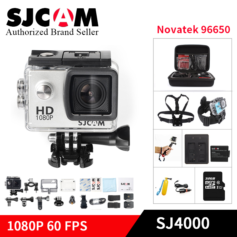 Original SJCAM SJ4000 Basic mini Action Camera go Waterproof pro yi 1080P HD helmet cam Novatek 96650 mini Camcorder SJ 4000 Cam цена