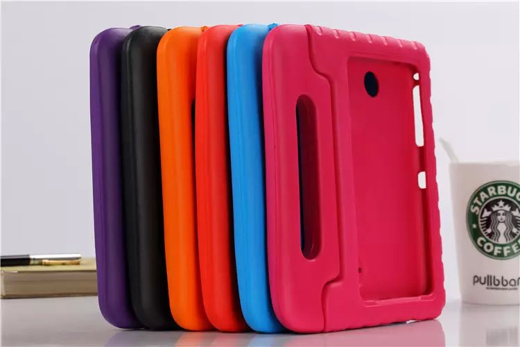 big sale 379c4 6dc7e For Samsung Galaxy Tab 4 7.0 Inch Kids Proof Silicone Case Cover For T230  T231 T235 Tablet Handbag Candy Colors Safe Protection