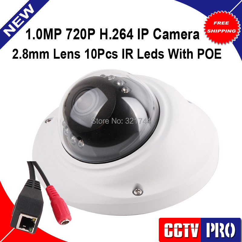 POE Port 1 0MP Mini Dome font b Camera b font Network Security 20M IR Vandalproof