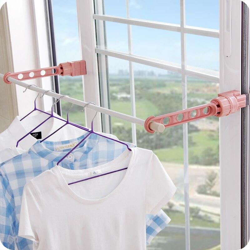 vanzlife indoor plastic drying rack window sill drying clothes rack creative multifunctional balcony window storage hook hanger