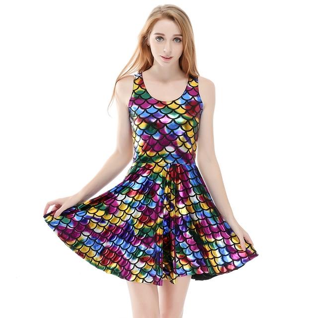 Mwbay sommer dress plus größe frauen kleider digitale print mermaid ...