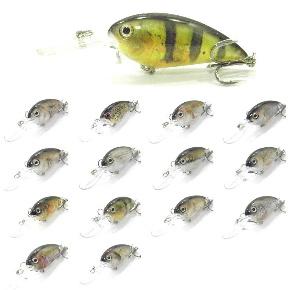 1PCS lifelike Fishing Lure deep diving Crank Crankbait Minnow casting trolling Lures bait hook 10cm/15g Free shipping