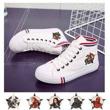 Marvel Hero Captain Black Panther Spider-Man Iron Man Pattern Flat Casual Shoes Canvas Student Womens A193291