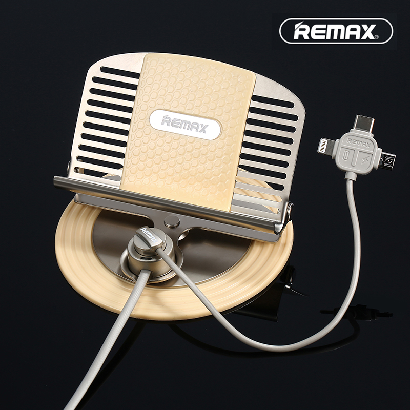 Remax Universal Car Phone Holder with 3 in 1 usb Magnetic charger cable for iPhone 5s