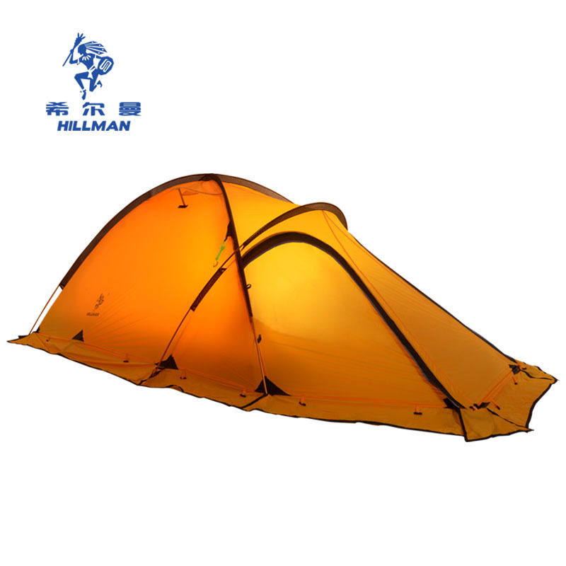 Hillman camping tent double layer aluminum pole tent anti typhoon four seasons Alpine coated silicone coated