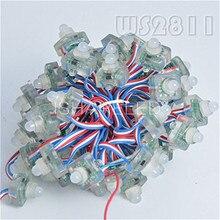 50 adet T1515 WS2811 Tam Renkli RGB Piksel LED modül lamba Dize DC Kristal 12 V/5 V IP68 12mm Su Geçirmez