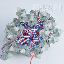 50 pcs t1515 ws2811 풀 컬러 rgb 픽셀 led 모듈 빛 문자열 dc cystal 12 v/5 v ip68 12mm 방수