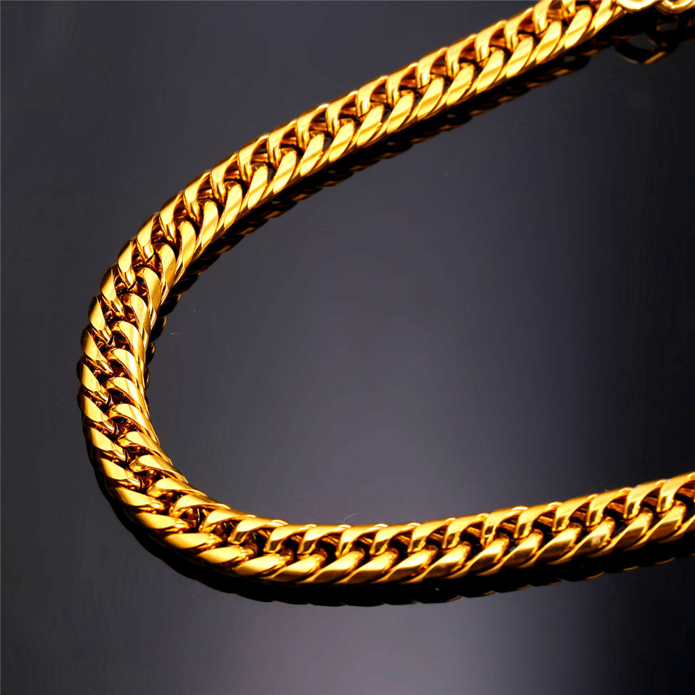 Topdudes.com - Miami Cuban Hip Hop Long Chains Thick Stainless Steel Necklace
