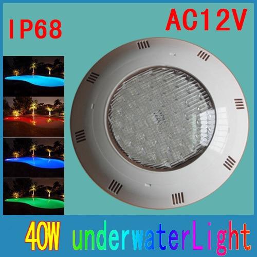 Den nyeste overflademonterede Piscina LED svømmebassin lys 40W 12V LED Undervands lampe med fjernbetjening Gratis forsendelse