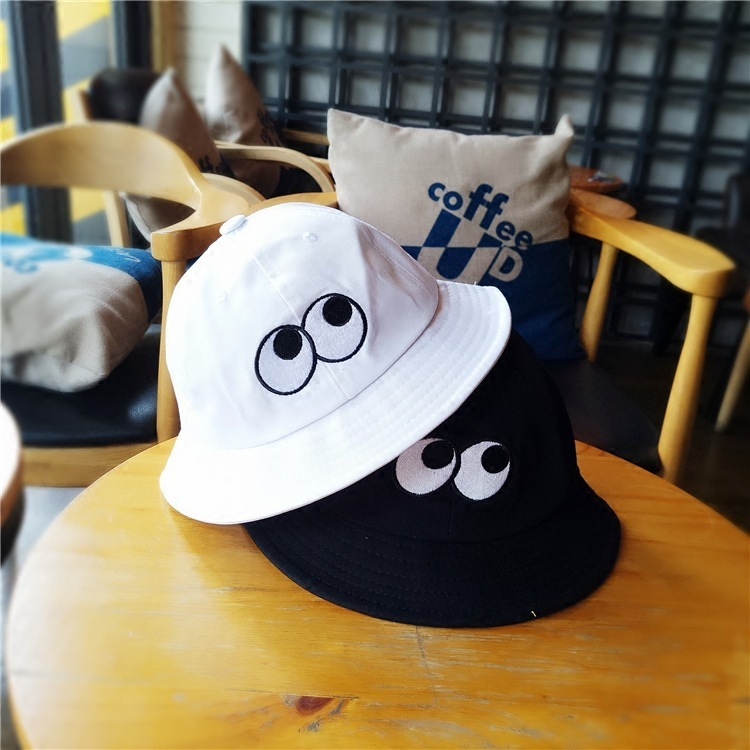 b203ee3e9c6 Man Women Cute Funny Fashion Caps Fashion Harajuku Japanese Korean Style  Big Eyes Cartoon Hat Fisherman Hat