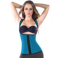 Plus Sweat Vest Sauna Body Shaper With Zipper Sexy Corselet Underbust Shapewear For Women Slimming Belt